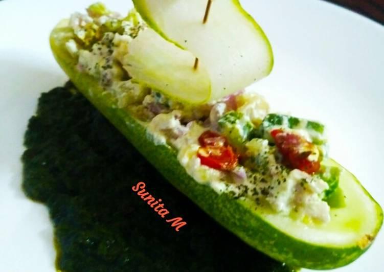 5 Minute How to Prepare Autumn Stuffed Cucumber Boat