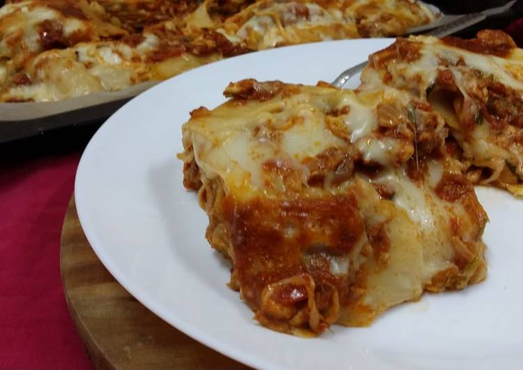 Recipe: Perfect Easy Family Lasagne