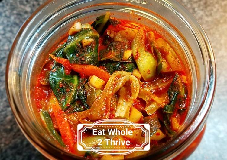 Information on How to Elevate Your Mood with Food Spicy Collard Kimchi/lacto-fermentation