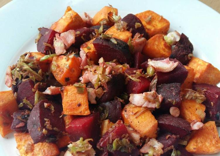 How to Cook Yummy Vickys Sweet Potato & Beetroot Hash, GF DF EF SF NF