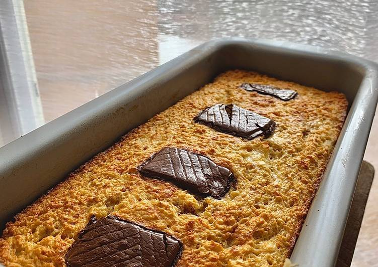 Gâteau à l'avoine-Chocolat & Banane