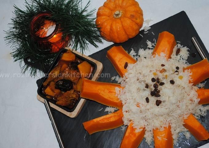 Pumpkin-Prune stew with lamb