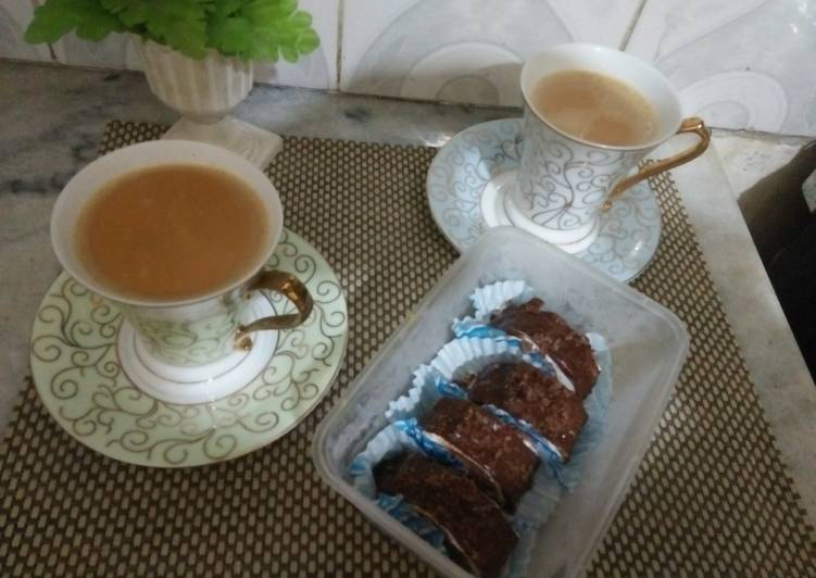 Easiest Way to Make Delicious Swiss roll cake with tea