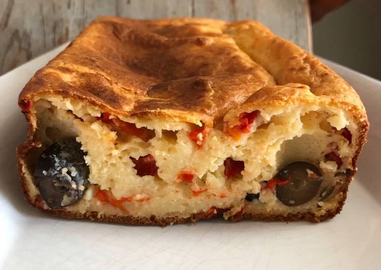 Cake ricotta poivron olives