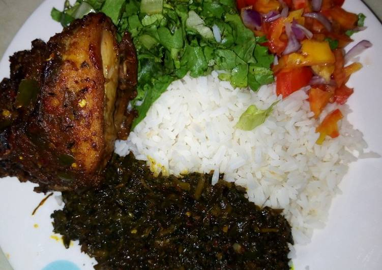 How to Prepare Tasty White rice with salad