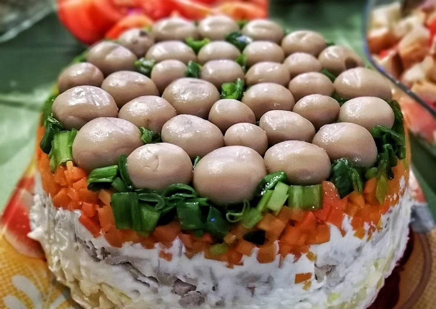 Салаты грибная поляна рецепты с фото