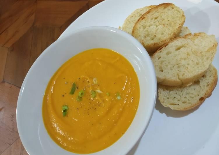 Sup Krim Labu Kuning - Pumpkin Cream Soup