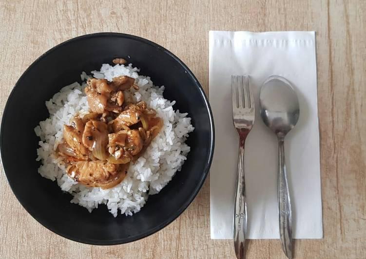 Bagaimana Membuat Ayam saus lada hitam Anti Gagal