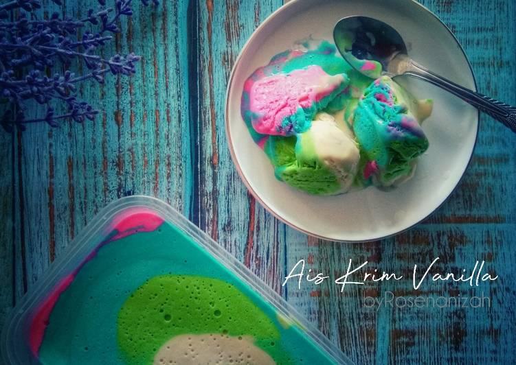 Ais Krim Vanilla - resepipouler.com