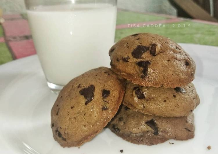 Soft Cookies Choco Chip Sederhana Enak