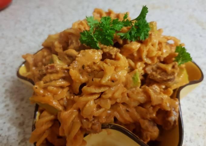 My Chorizo Pasta & cheesey sauce