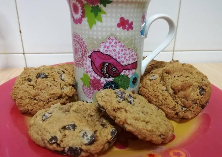 Cookies americanas integrales con panela