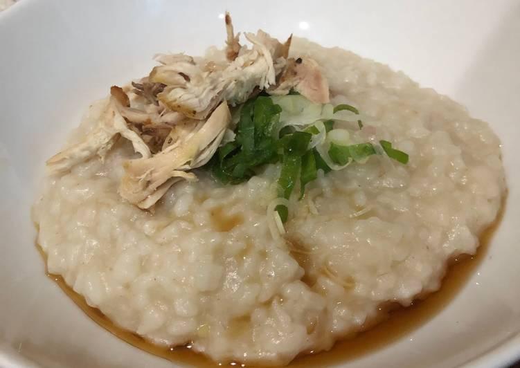 Chinese chicken congee (bubur ayam chinese)