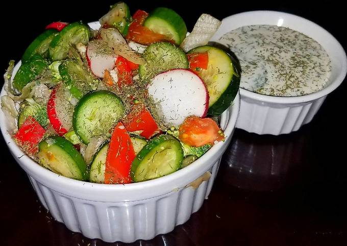 Mike's Super Simple Side Cucumber Dill Salad