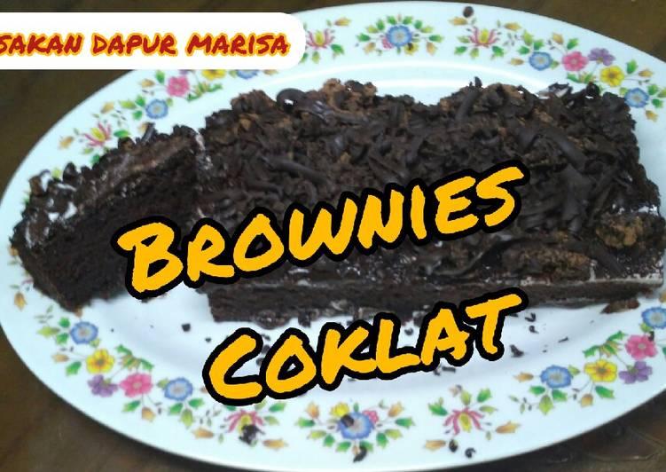 Bagaimana Membuat Resep Brownies Coklat No Oven No Mixer yang Enak Banget