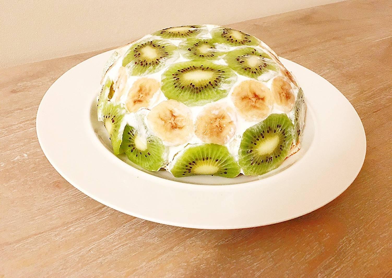 такая фруктовый торт мороженое рецепт с фото кусочков