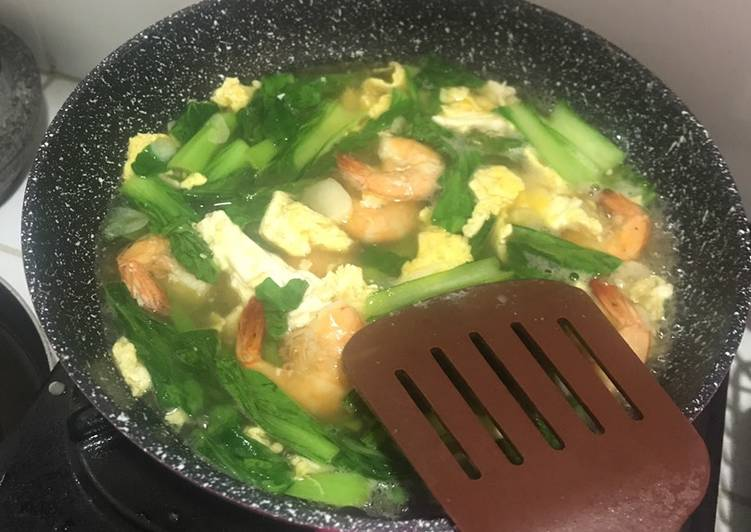Tumis Udang🍤 Pakcoy Telur Sederhana