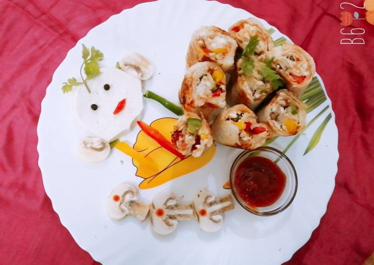 Old Fashioned Dinner Easy Summer Stuffed paneer bread roll