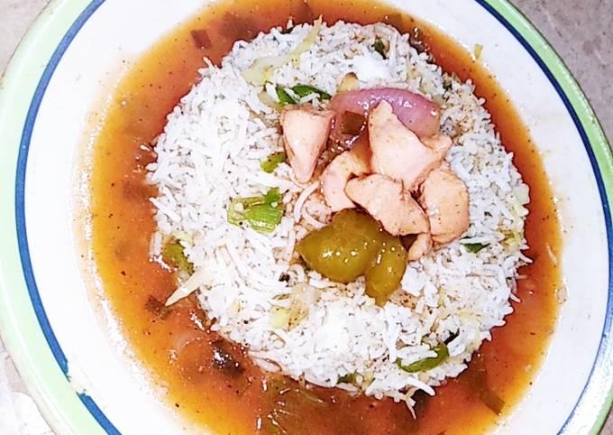 How to Prepare Yummy Fried rice with chicken shashlik (secret restaurant recipe)
