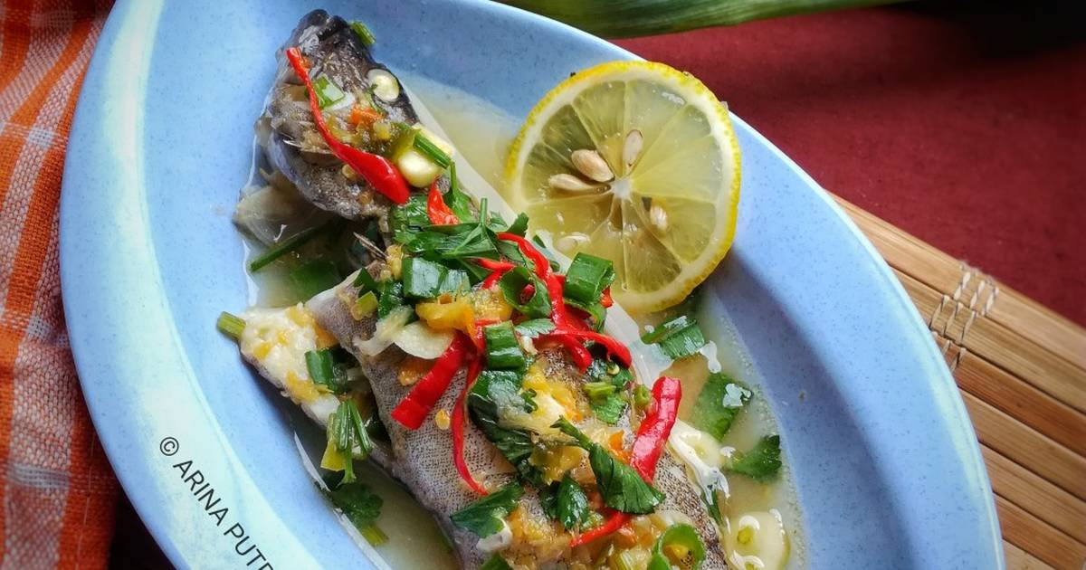 ikan ubi masak stim hybrid art Resepi Ikan Masak Stim Cara Thai Enak dan Mudah