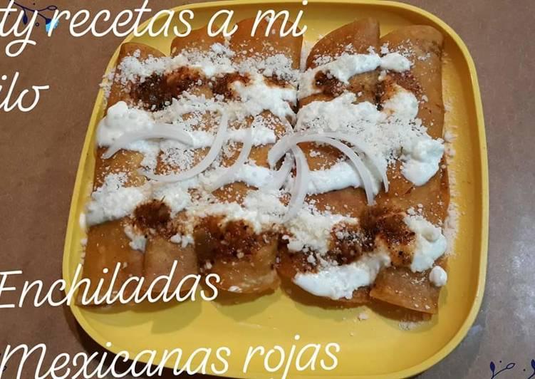 Enchiladas mexicanas rojas