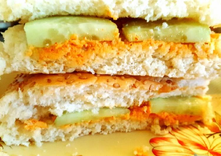 Recipe of Most Popular Chicken Tikka Sandwich 🌯