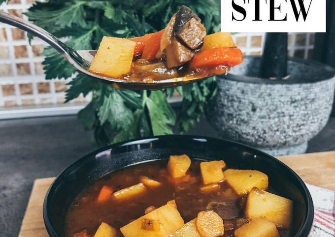 Vegan Recipes-Vegan Guinness Irish Stew