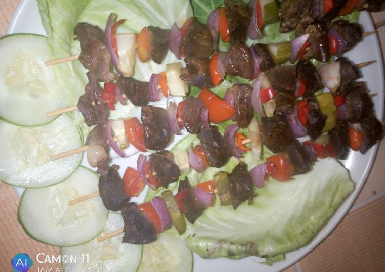 Easiest Way to Cook Appetizing Liver kebab