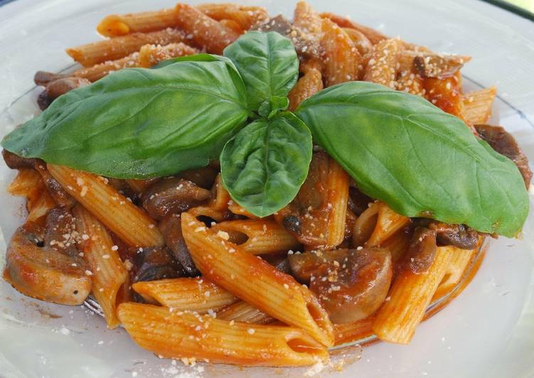 Recipe: Perfect Mushroom Penne Pasta
