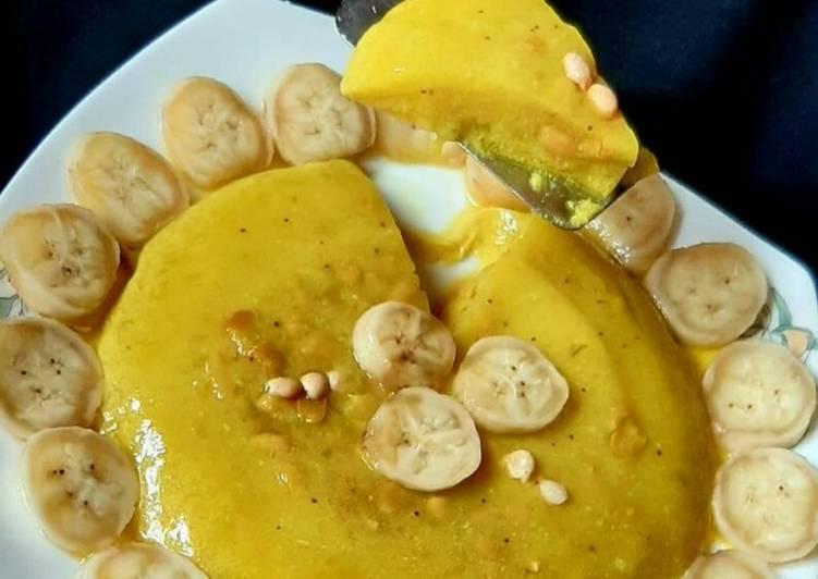Banana & Peanut glass pudding