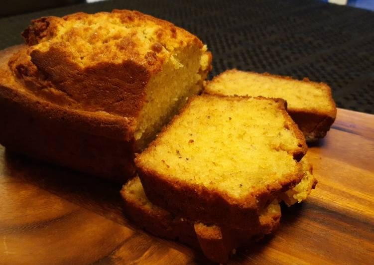 Homemade loaf banana cake