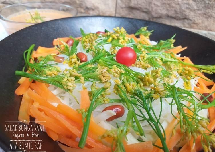 Salad Bunga Sawi, Sayuran, & Bihun