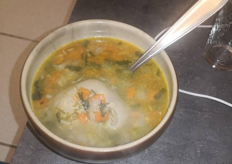 Recette Savoureux Soup a pié a bèf (en créole Guadeloupéen)-Soupe de pied de bœuf