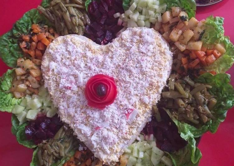 Ensalada de jardín con verduras