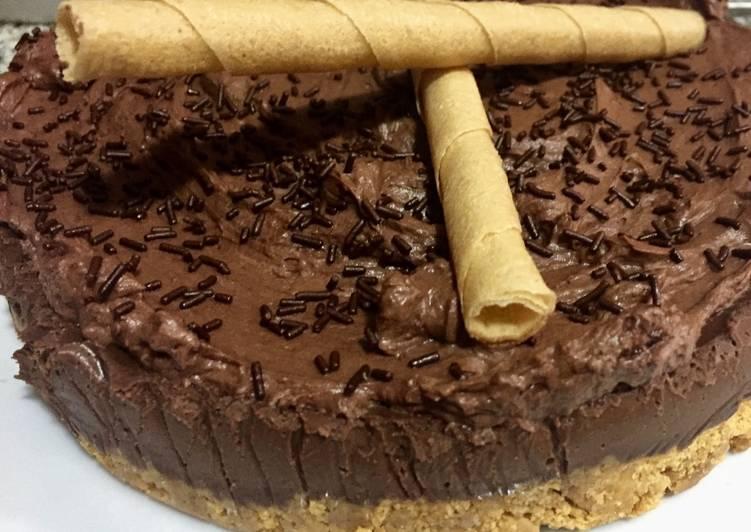 Tarta de chocolate y trufa fácil y rápida
