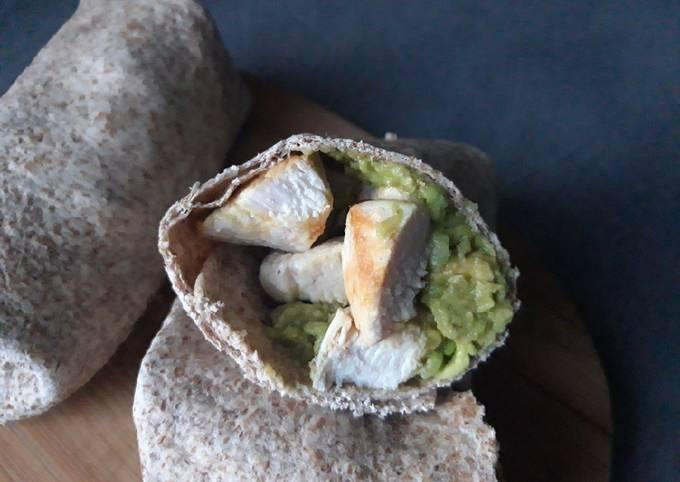 Wrap guacamole-poulet