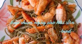 Hình ảnh món Bún chùm ngây xào hải sản ❤️