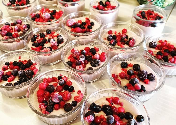 Panacotta aux fruits rouges