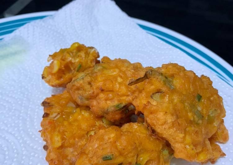 Perkedel / bakwan jagung khas pekanbaru