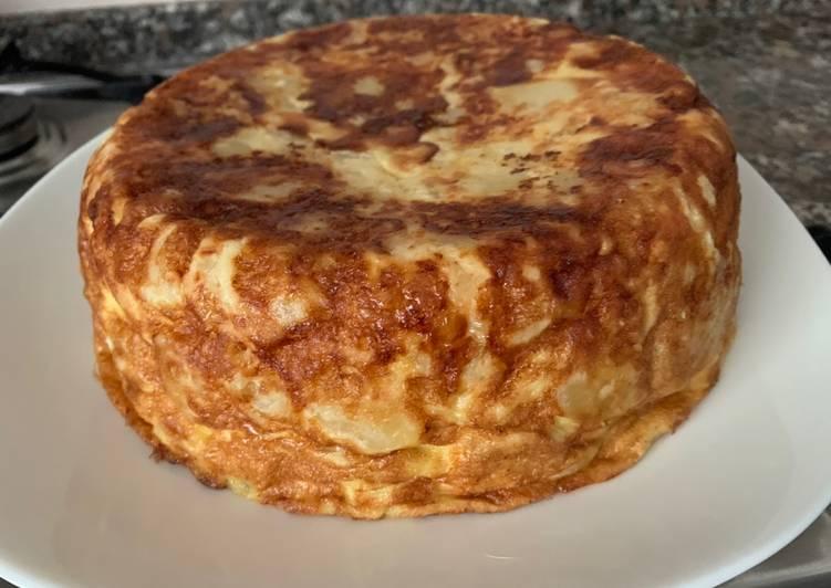 Tortilla patatas y cebolla olla GM H Deluxe
