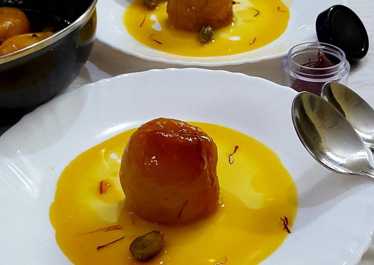 Recipe of Top-Rated Apricots with Saffron and Cardamom