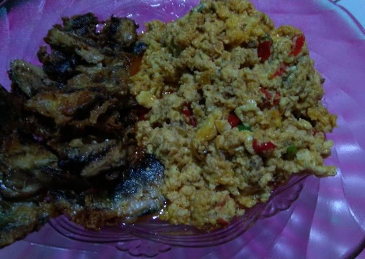 Ikan Sarden Saus Telur