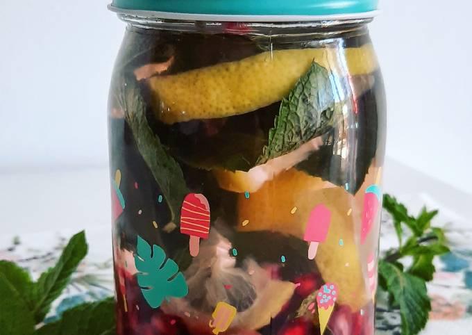 Detox water menthe grenade et citron 🍋