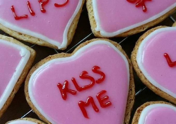 Recipe: Delicious Vickys 'Love Hearts' Valentine Cookies, GF DF EF SF NF