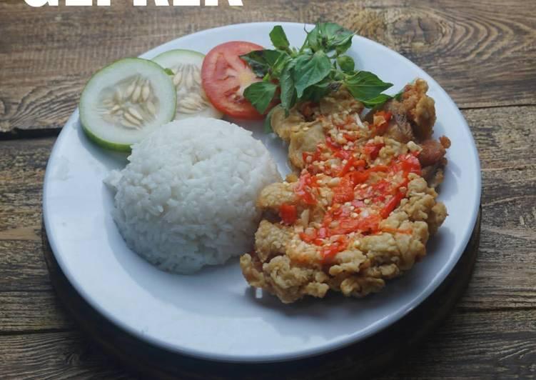 Resep Ayam Geprek Sambal Bawang Anti Gagal