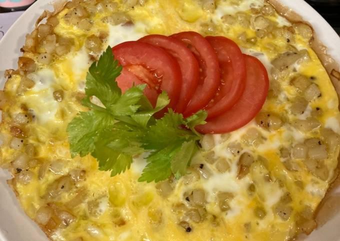 Omelet Kentang/Patatesli menemen/Potato Omelet