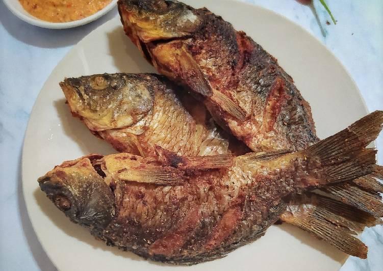 Ikan Mas Goreng (Bumbu Kuning)