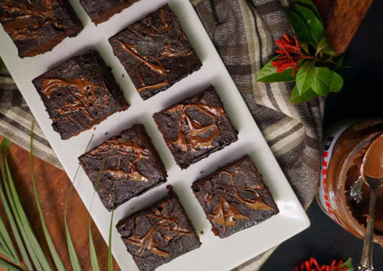 Recipe of Award-winning Dark Chocolate Cakey Brownies