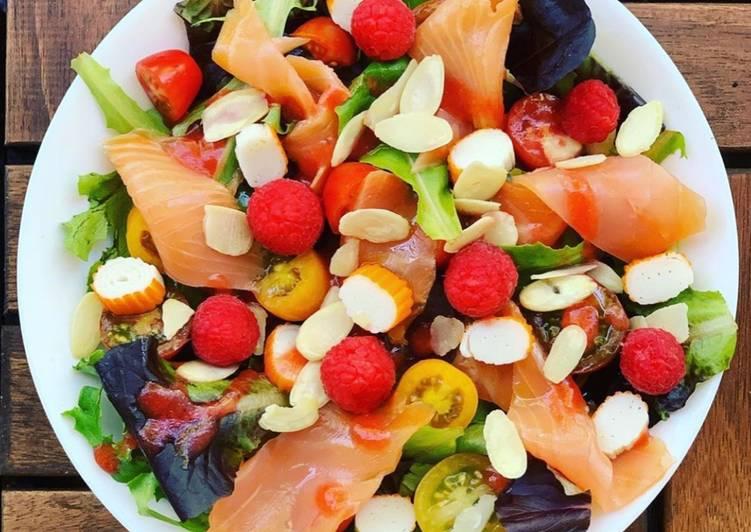 Salade saumon - framboise
