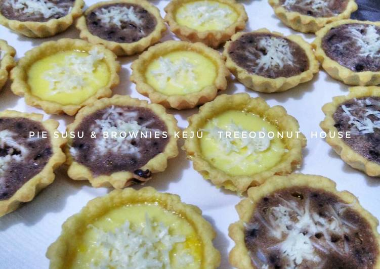 Resep Pie susu&brownies keju teflon anti gagal #part 2 Paling Gampang